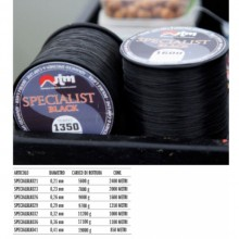 FILO JTM SPECIALIST BLACK O,21mm 2400mt