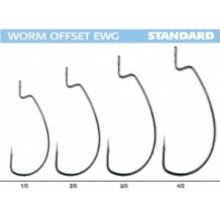 BASS FISHING WORM OFFSET EWG