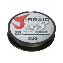 DAIWA J-BRAID X8 0,16mm 150mt Dark Green (made in japan)