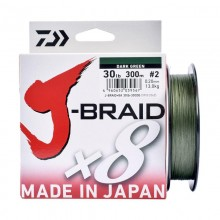 DAIWA J-BRAID X8 0,24mm 300mt Dark Green (made in japan)