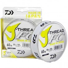 DAIWA J-THREAD FLUOROCARBON 0,254mm 100mt CLEAR made in japan
