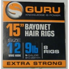 "BAYONET HAIR RIGS 15"" EXTRA STRONG"