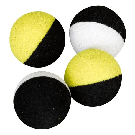 TWO TONES BALL BLACK/FLUO YELLOW